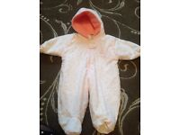 Baby girl snowsuit/pramsuit