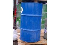 1 x 205 LITRE/45 GALLON STEEL OIL DRUM/BARREL/CONTAINER/PLANTER/BBQ's