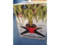 Christmas tree stand for real tree, used only once