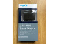 3.4A USB TRAVEL ADAPTER BRAND NEW
