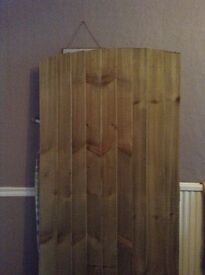 Wooden feather edge gate