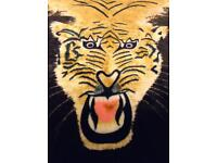 Bed cover tiger