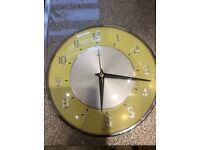 Vintage Metamec kitchen battery wall clock.