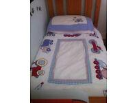 JoJo Maman Bebe Cotbed Bedding Bundle, Curtains and Bedroom Decor - Trucks