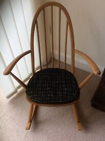 Wooden Ercol Rocking Chair 1960's