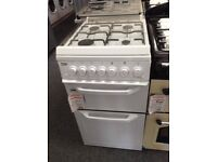 Beko 50cm gas cooker with glass lid. £245 new/graded 12 month Gtee
