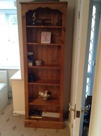 Very Good Condition Solid Pine Book Case