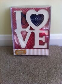 Beautiful 'LOVE' vintage photo frame