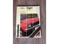 Ford Capri mk1 owners handbook and maintenance guide