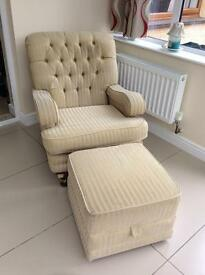 Kirkdale Quality Armchair and Storage Footstool
