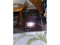 Calor Gas Fire with full gas bottle