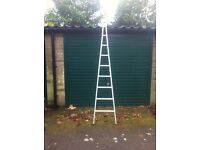 A framed window cleaning ladder brand new 80 pounds