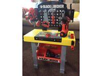 Kids black and decker work bench