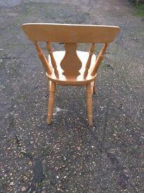 5 pine farmhouse kitchen style chairs