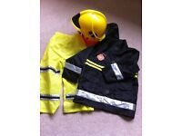 FIREMAN dressing up costume Early Learning Center £10