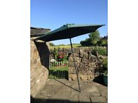 Garden Parasol Umbrella Dark Green Colour Great Condition