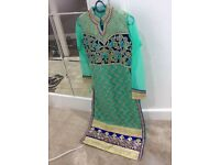 Girls wedding party dress. Churidaar sari lengha