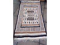 Hand made flat weave rug