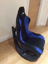 Gaming chair rocking -blue/black