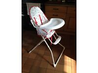 Red Kite High Chair and Pink Booster Seat for Sale - Collect only near Llandeilo, Carms.