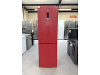 Haier C2FE636CRJ 60/40 Frost Free Fridge Freezer Burgundy Red #367350