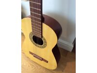 Acoustic 6 string guitar and soft case , would be perfect for a beginner.