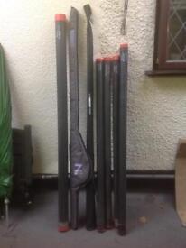 Various fishing rods - Abu, Drennan, John Wilson etc