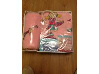 BRAND NEW PINK GIRLS COMPLETE BEDDING SET
