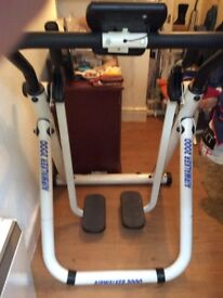Aerobic Airwalker 2000 indoor workout equipment with dual action. For upper & lower body exercise.