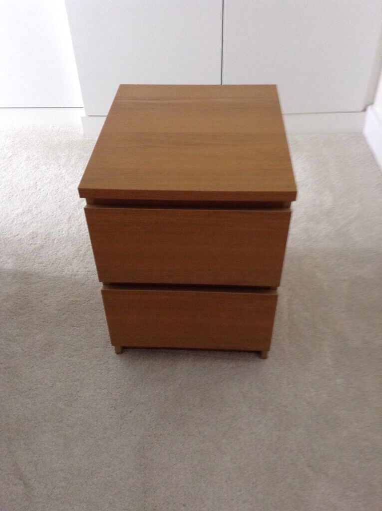 Ikea Bedside Table Small Chest Of Two Drawers