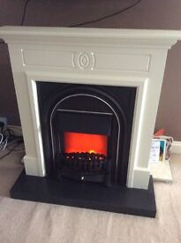 B and q fire surround with electric fire