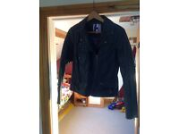 Ladies faux leather grey jacket size 12
