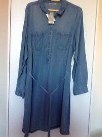 Women's denim dress/tunic,size 20, new with tags