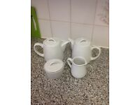 Kettle pot with sugar and milk never been used £10