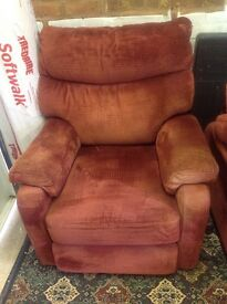 Two electric reclining arm chairs FREE