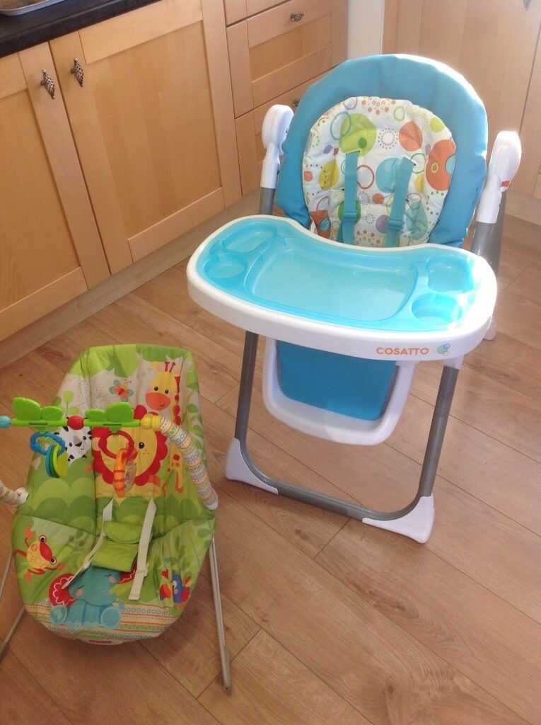 Cosatto high chair ,bouncer,baby sling,bath chair,rubber ring | in ...
