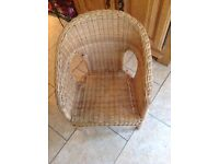Childs natural rattan chair