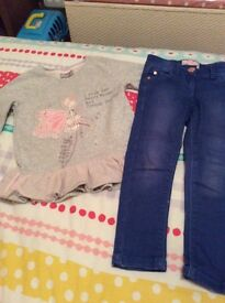 Lovely girls next jumper and jeans age 4-5