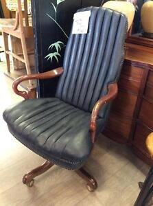 Black Leather Office Desk Chair