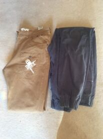 Men's henleys cuffed trousers