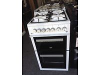 Beko 50cm white double gas oven. £249 new/graded 12 month Gtee