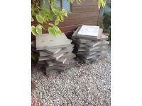 Grey Slabs 22 slabs each 59.5cm x 59.5 cm
