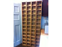 4 IKEA Tall Storage Units Towers Shelves CDs DVDs or Bookshelf in Medium Oak / Can Deliver