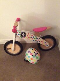 Balance Bike (KiddiMoto) with Helmet