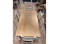 Dining table and six chairs hand made