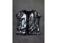 Sequinned evening jacket