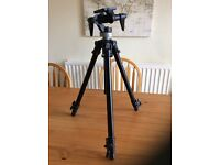 Manfrotto 190B tripod, suitable for telescopes and cameras.