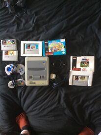 Super Nintendo SNES and games