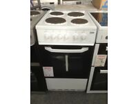 Beko 50cm electric cooker. 4 plate hob single cavity £180. New/graded 12 month Gtee