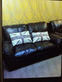 Good quality real leather sofas